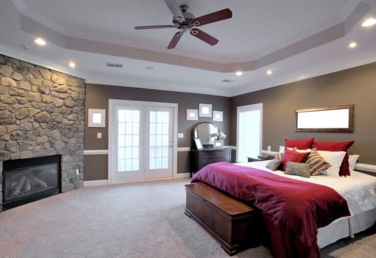Recessed lighting and ceiling fan